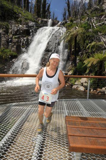 Janette running Marysville Marathon (42km) in Australia 2010